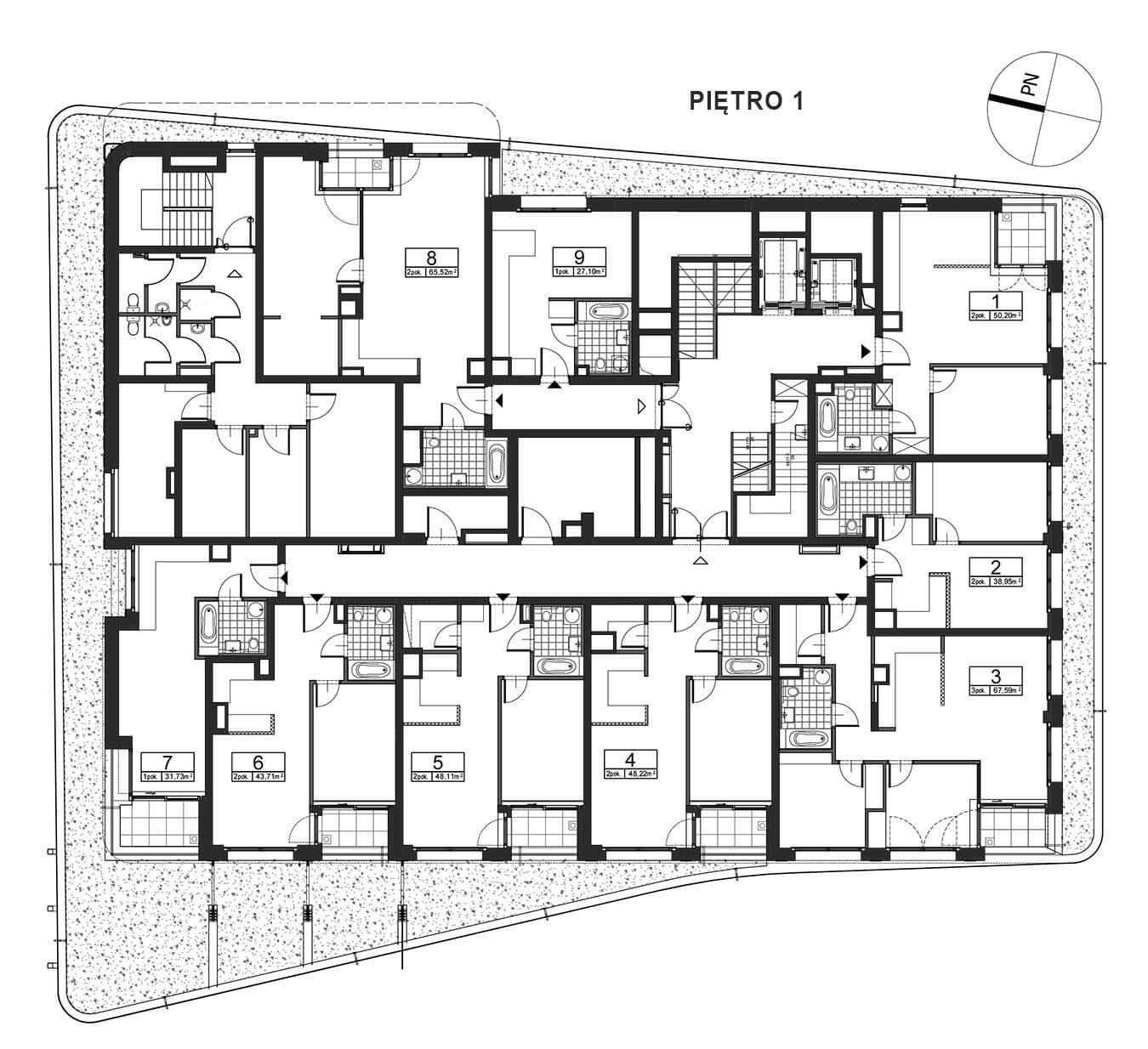 Górnośląska 6 - Piętro 1