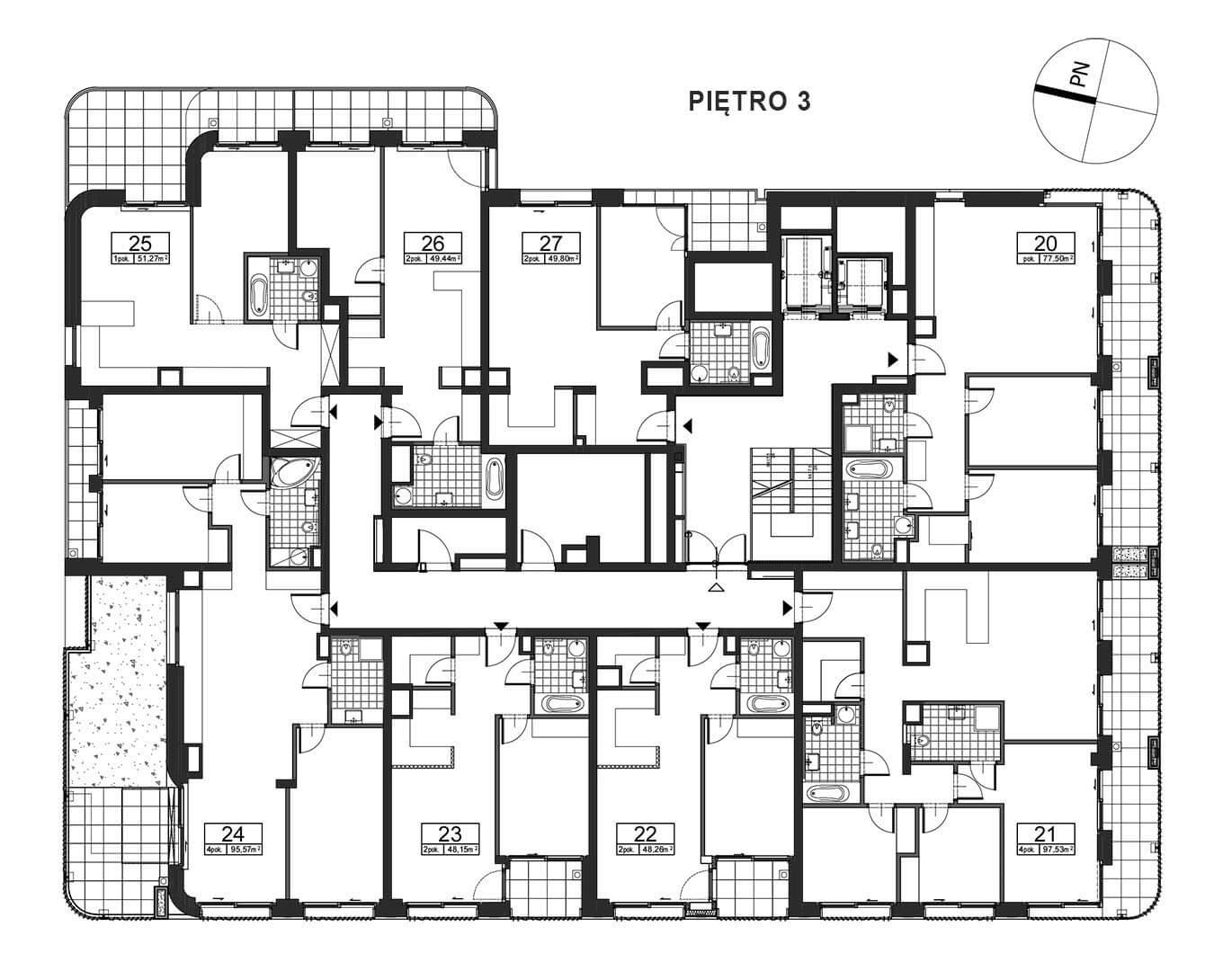 Górnośląska 6 - Piętro 3